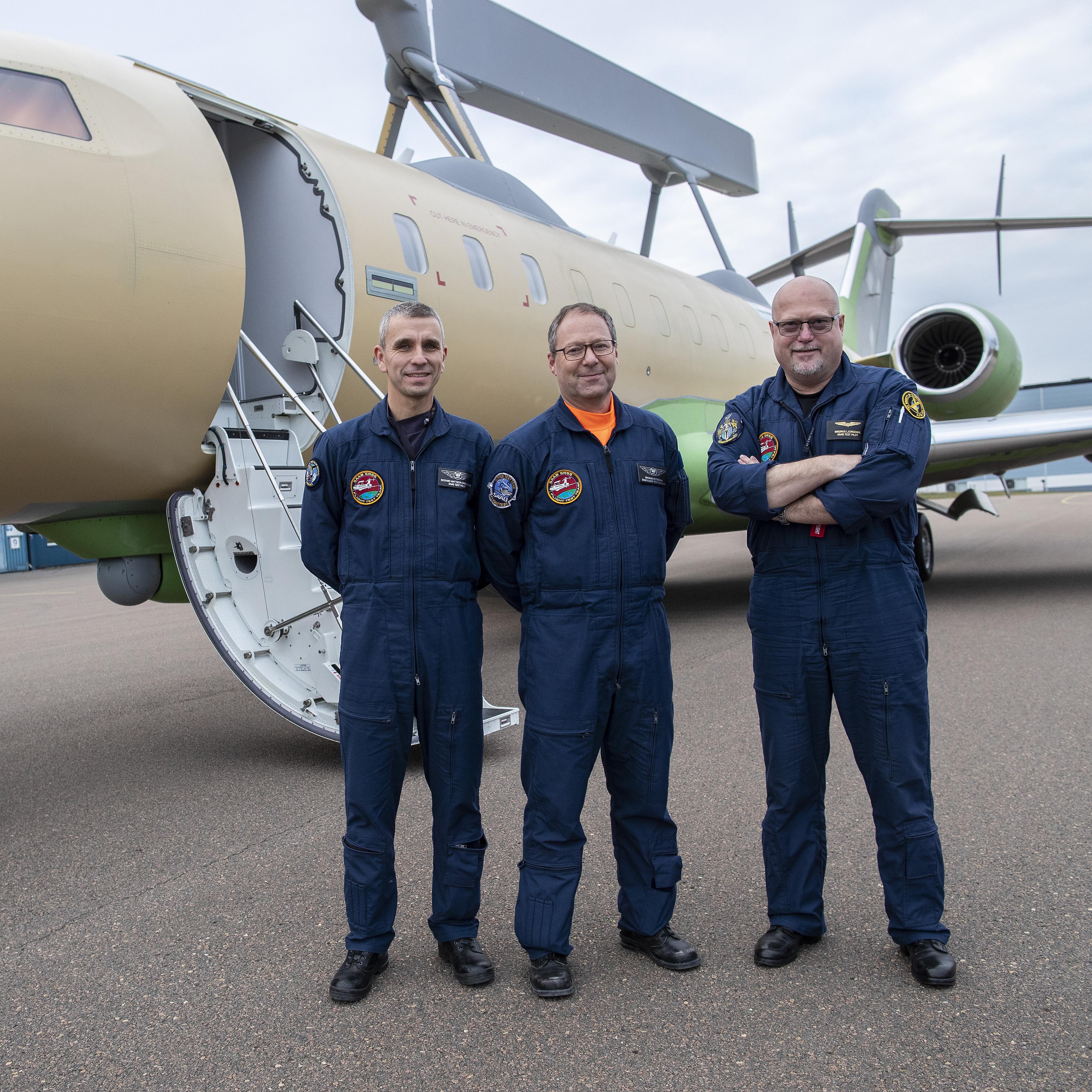 GlobalEye second aircraft first flight – crew