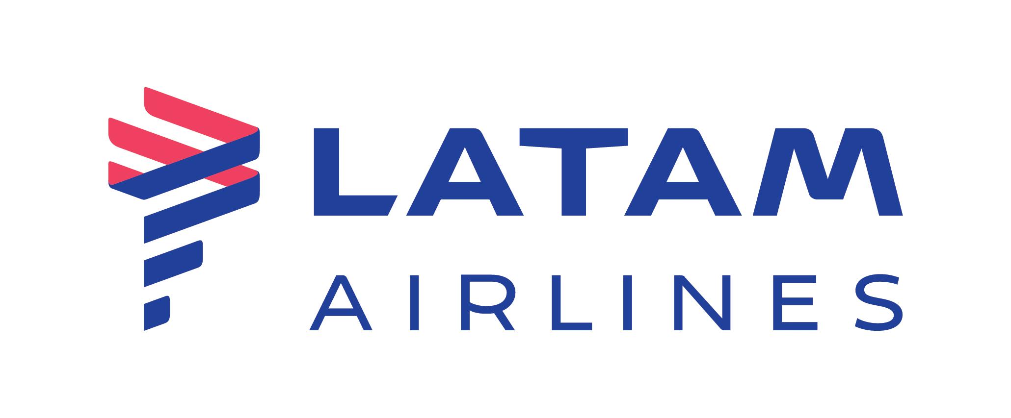 LATAM Airlines horizontal negativo greyscale CMYK
