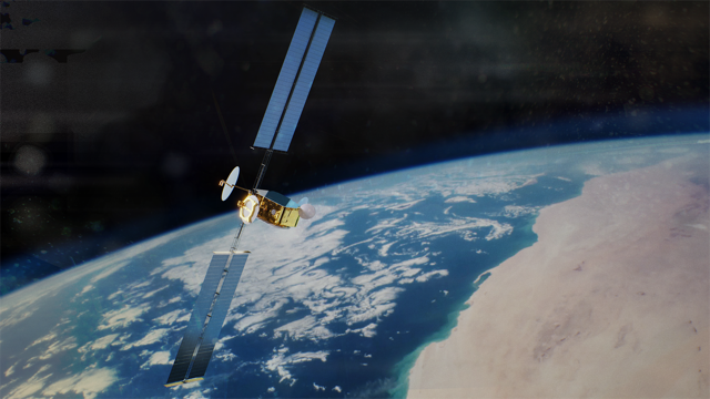 Artist-view-OneSat-satellite-deployed-in-space-Copyright Airbus2019