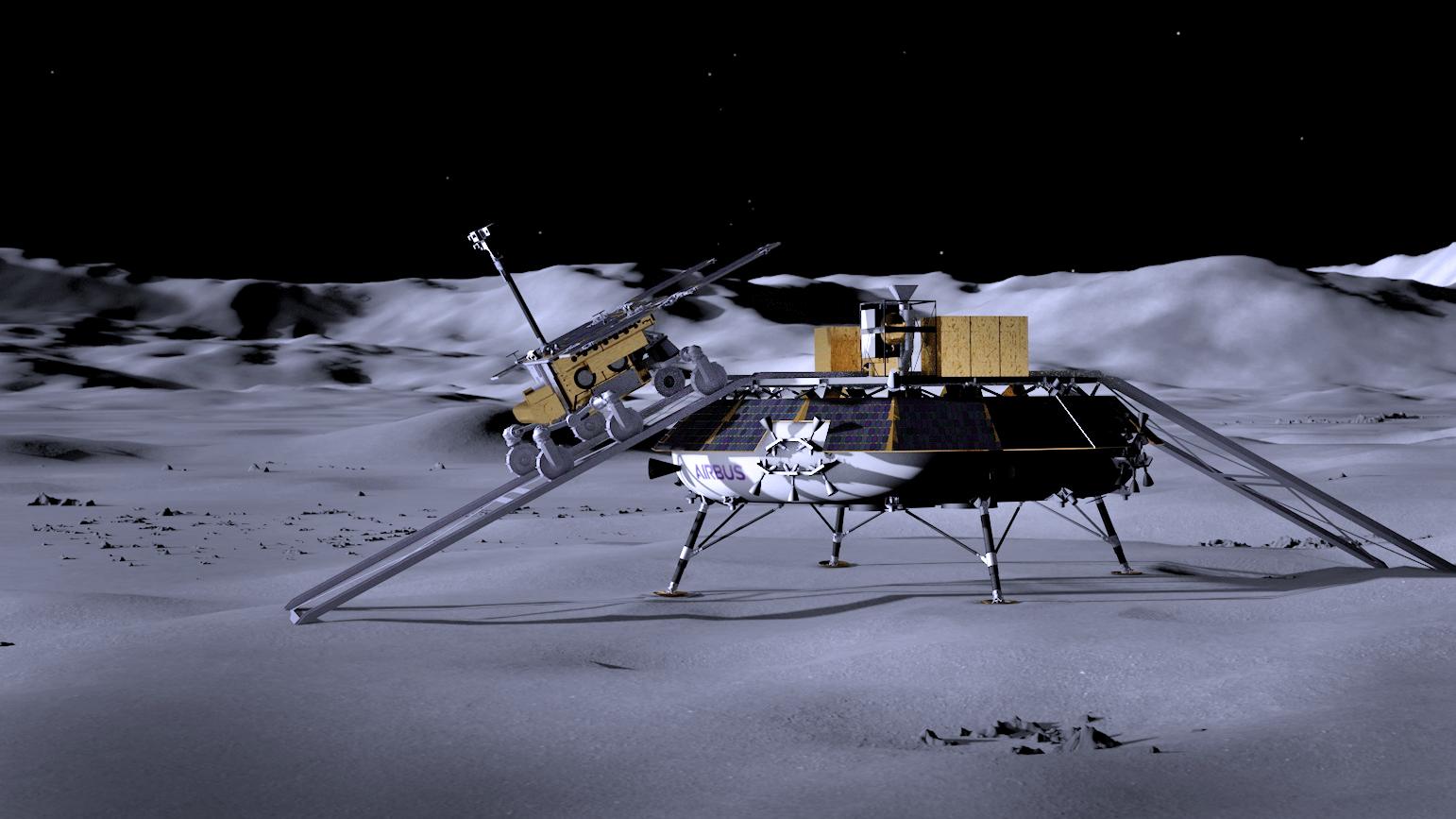 Airbus Moon lander de la ESA 2