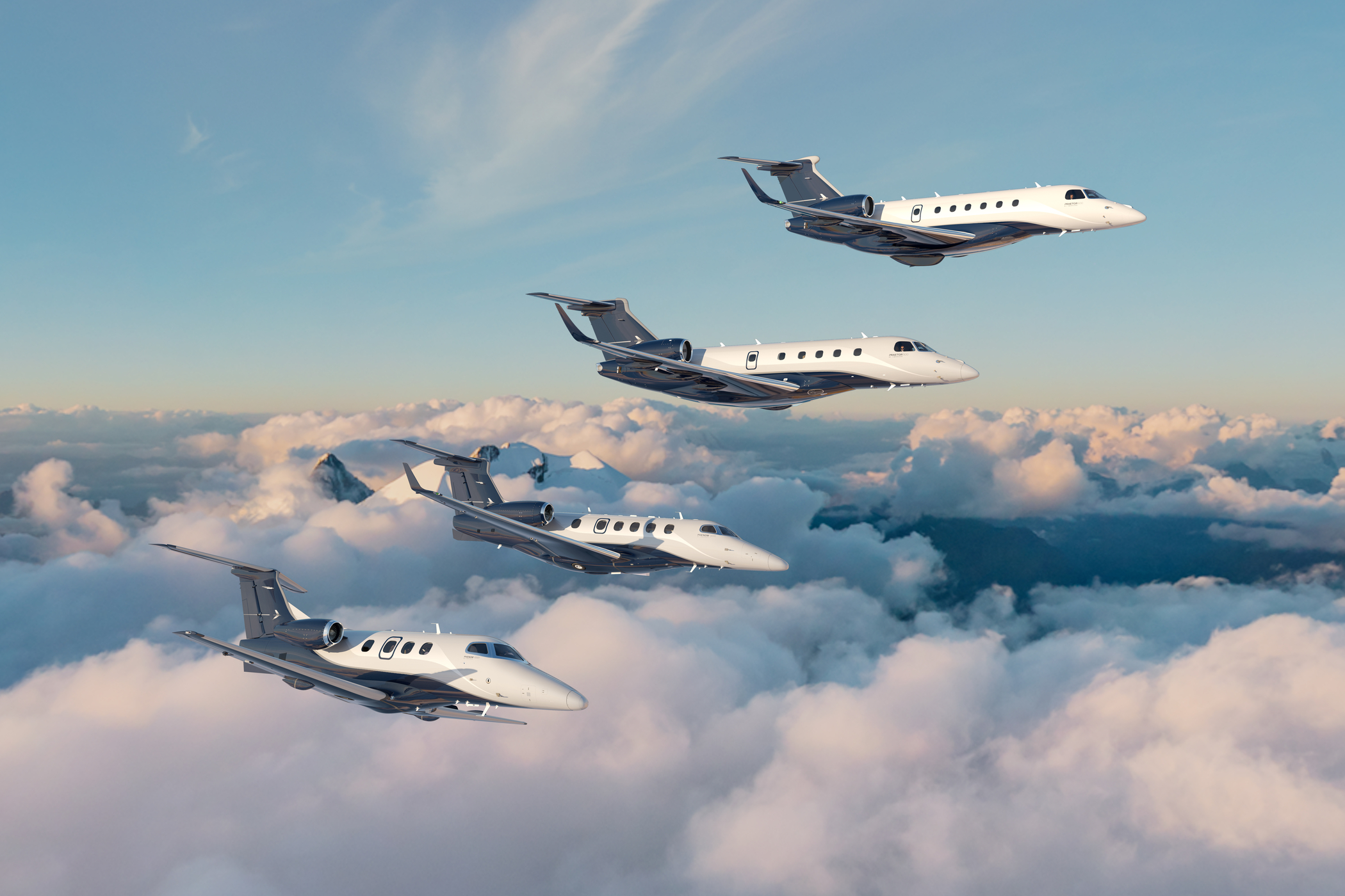 Embraer executive Jets family flying _high res